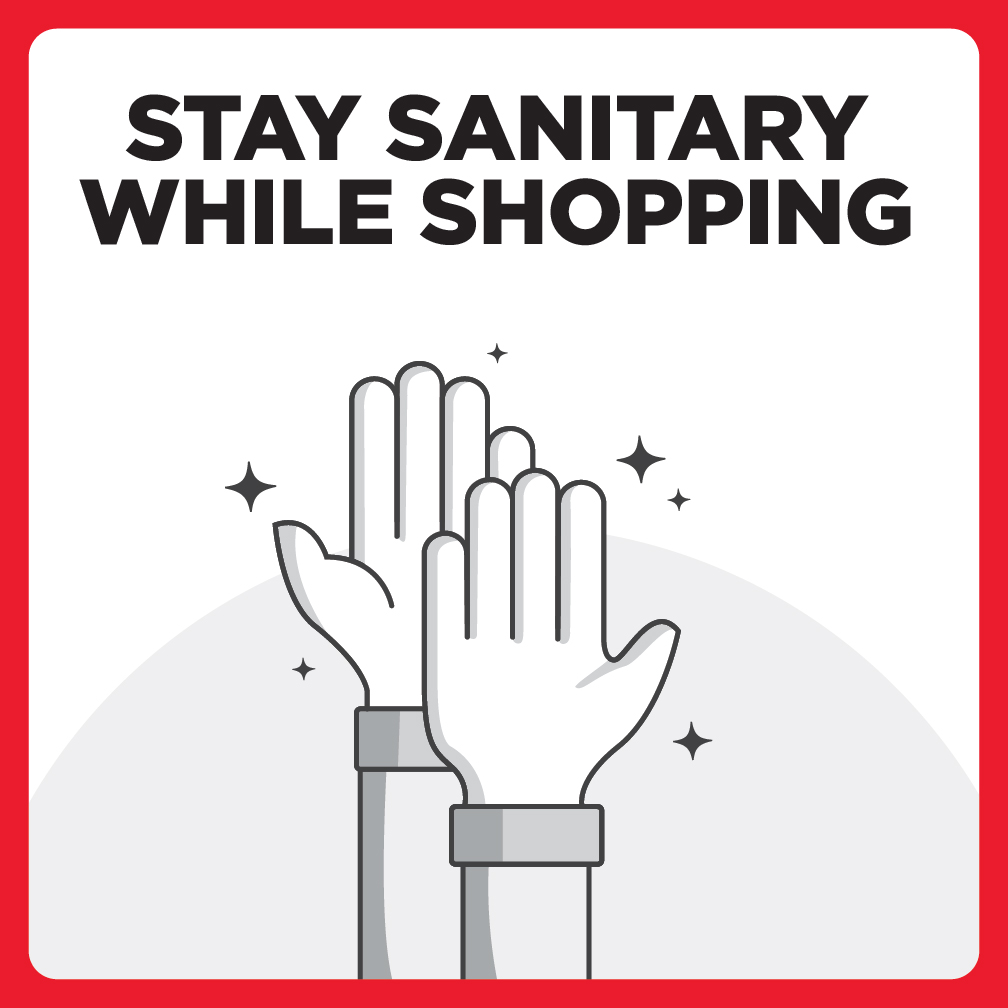 Stay Sanitary While Shopping